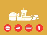 Fastfood / Burger Icons