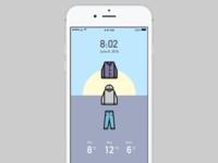 Weather & Wardrobe app concept