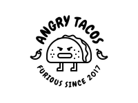 Angry Tacos Black & White