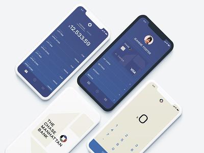 Chase Manhattan Banking App Concept