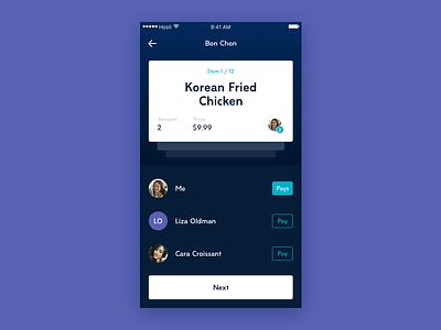 Spliit App sharing fintech social receipt bill splitting ios payment mobile flat ui app