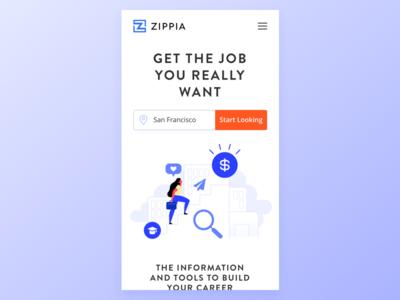 Zippia Homepage Mobile