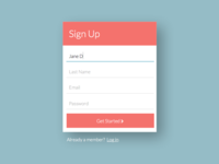 Simple Sign Up Modal