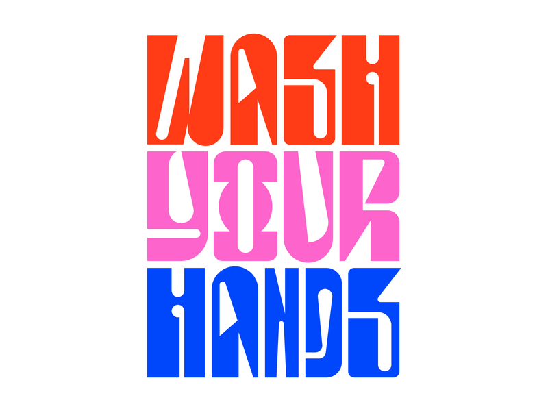 Wash Your Hands graphic design illustration letters instagram lettering typedesign design faelpt type typography wash your hands
