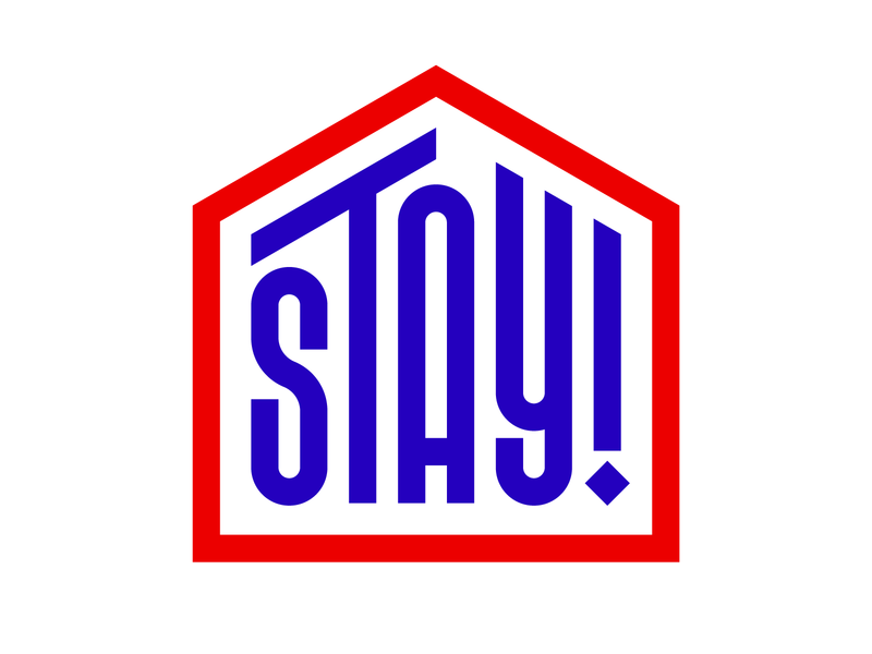 Stay! graphic design letters instagram lettering typedesign design faelpt type typography stay home stay