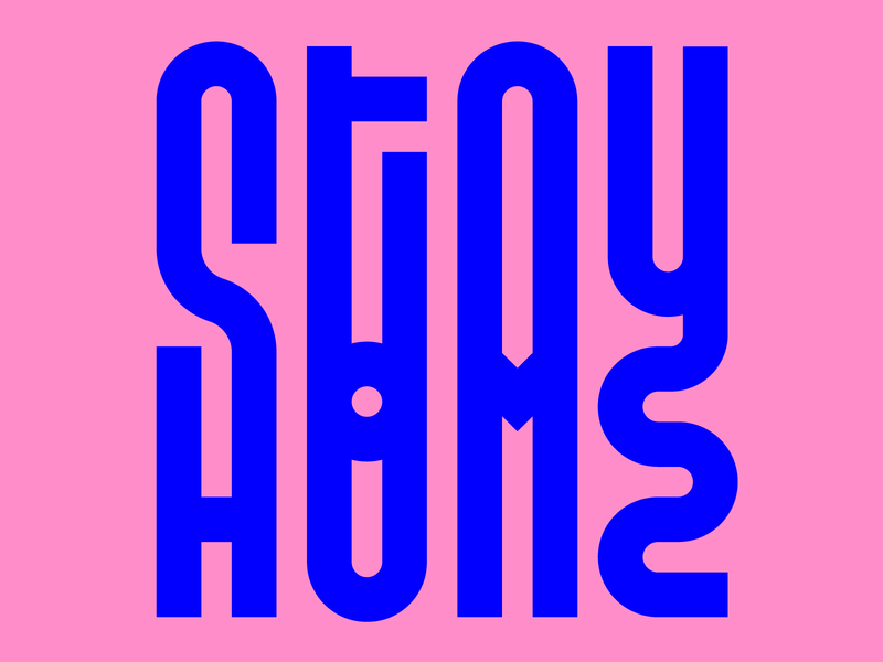 Stay Home illustration letters instagram lettering typedesign design type faelpt typography stayhome stay home