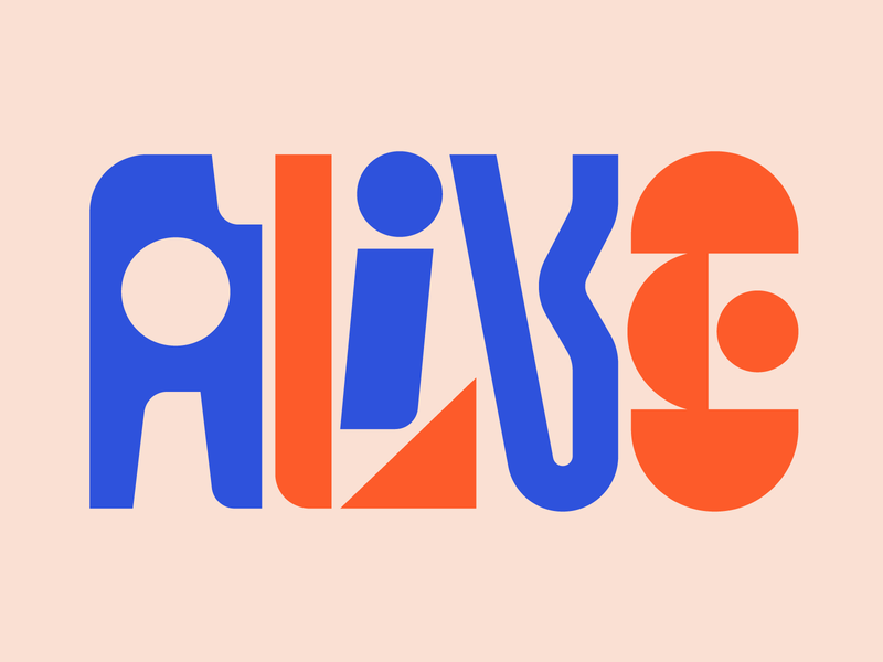 Alive illustration graphic design letters instagram lettering typedesign design faelpt type typography alive