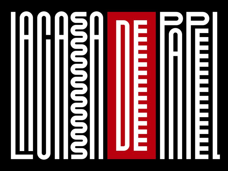 La casa de papel netflix graphic design letters instagram lettering typedesign design faelpt type typography lacasadepapel