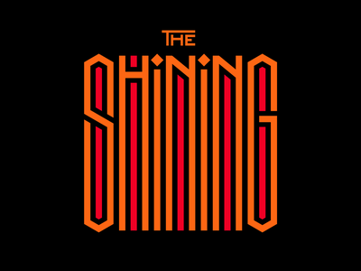 The Shining title design letters instagram lettering typedesign design faelpt type typography stanley kubrick the shining