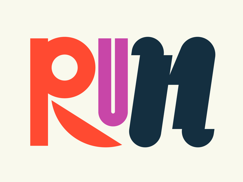 Run illustration graphic design letters instagram lettering typedesign design faelpt type typography run