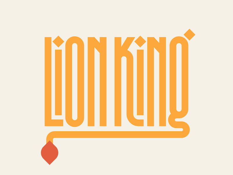 Lion King graphic design letters instagram lettering typedesign design faelpt type typography logo design lion king