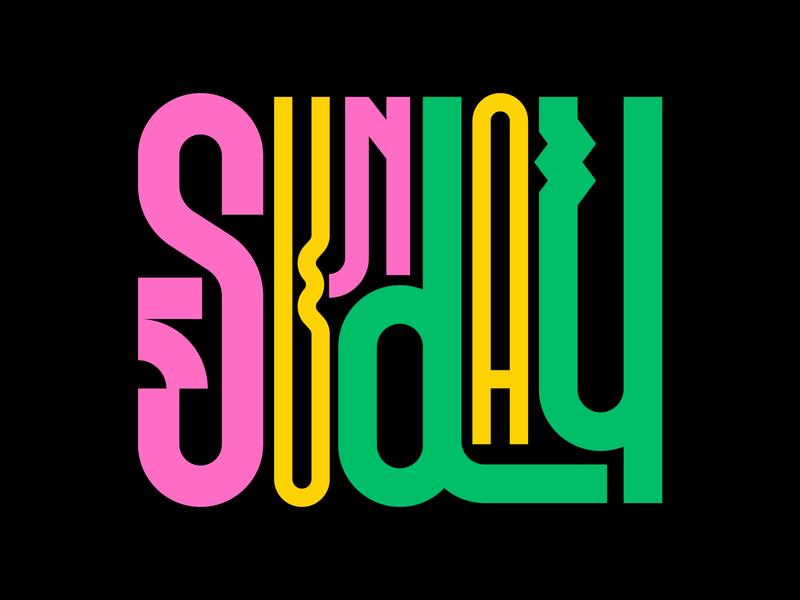 Sunday illustration graphic design letters instagram lettering typedesign design faelpt type typography sunday