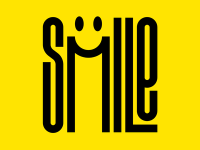 Smile graphic design letters instagram lettering typedesign design faelpt type typography smiley face smile