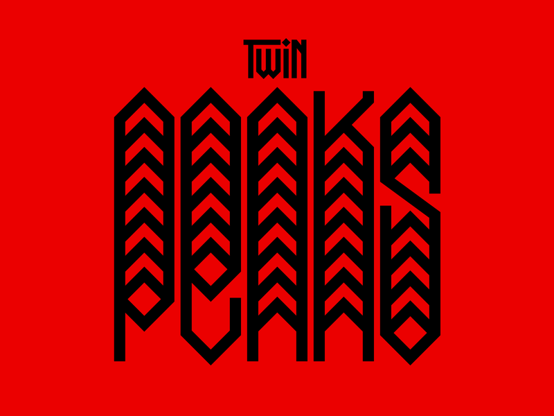 Twin Peaks illustration graphic design letters instagram lettering typedesign design faelpt type typography twin peaks