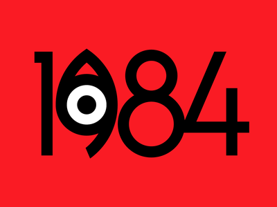 George Orwell's 1984 letters illustration instagram lettering typedesign design faelpt type typography george orwell 1984