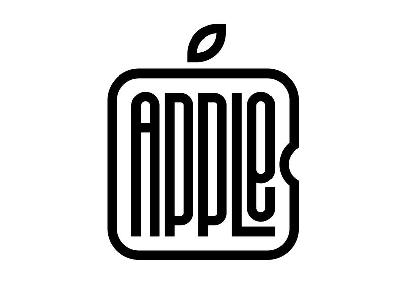 Apple graphic design letters instagram lettering typedesign design faelpt type typography logo apple