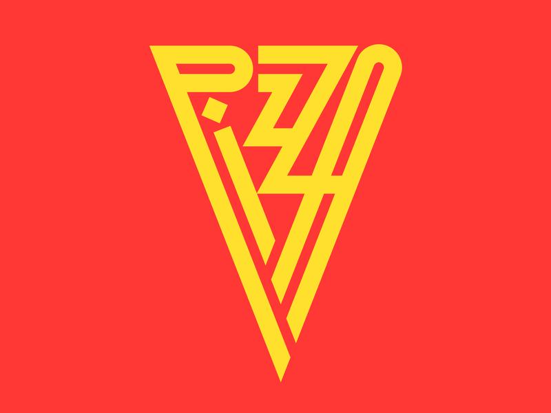 Pizza graphic design illustration letters instagram lettering typedesign design faelpt type typography pizza