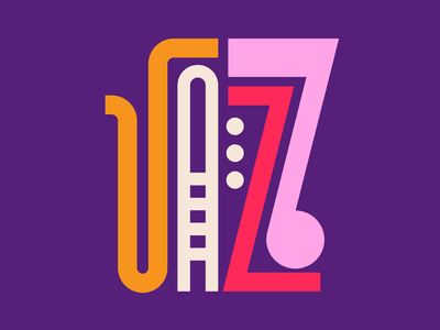 Jazz illustration graphic design letters instagram lettering typedesign design faelpt type typography jazz