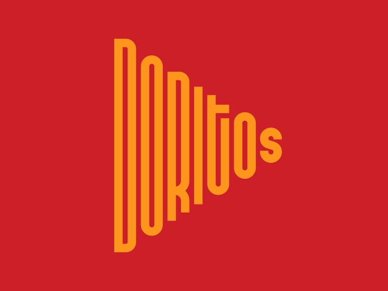 Doritos graphic design letters instagram lettering typedesign design faelpt type typography logo doritos