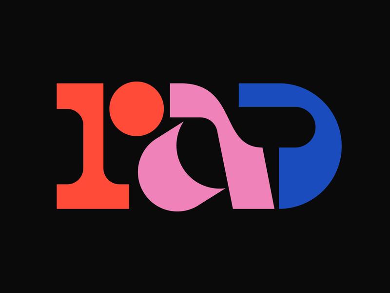 Rad illustration graphic design letters instagram lettering typedesign design faelpt type typography rad
