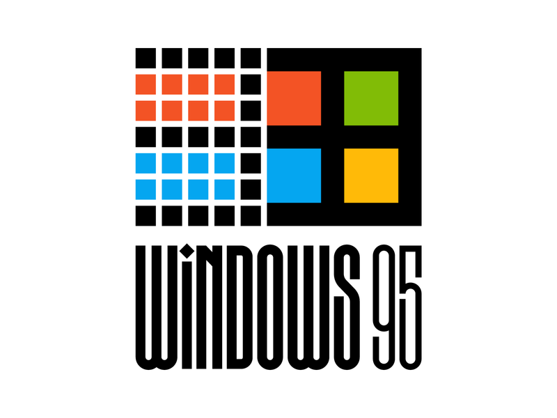 Windows 95 logo graphic design letters instagram lettering typedesign design faelpt type typography windows 95