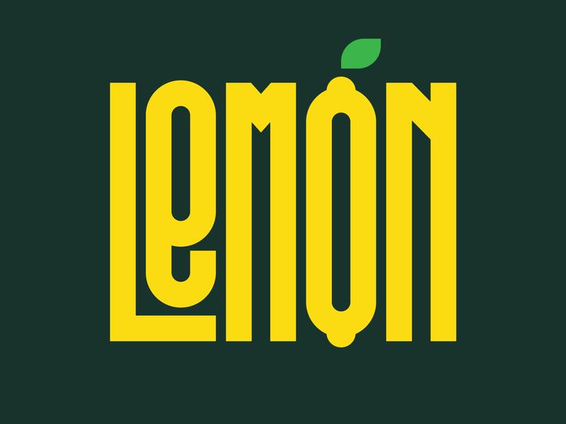 Lemon graphic design illustration letters instagram lettering typedesign design faelpt type typography lemon