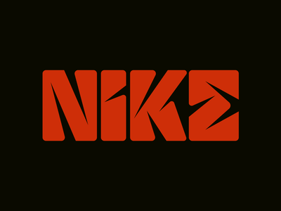 Nike graphic design letters instagram lettering typedesign design faelpt type typography logo nike