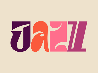 Jazz graphic design letters instagram lettering typedesign design faelpt type typography jazz
