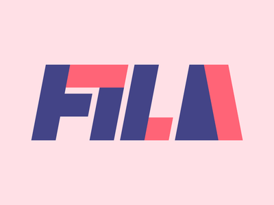 Fila graphic design letters instagram lettering typedesign design faelpt type typography logo fila