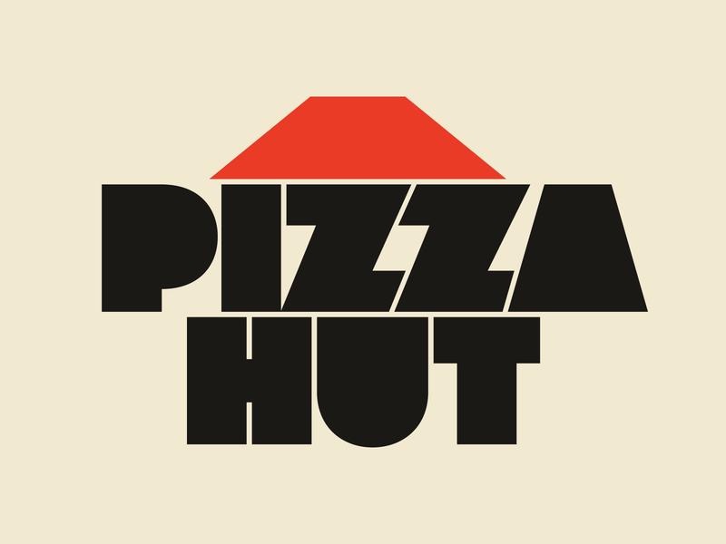 Pizza Hut graphic design letters instagram lettering typedesign design faelpt type logo typography pizza hut