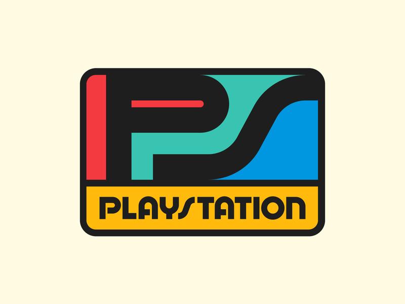 PlayStation badge graphic design letters instagram lettering typedesign design faelpt type typography logo playstation