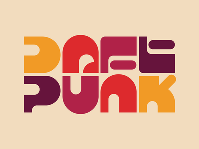 Daft Punk illustration graphic design letters instagram lettering typedesign design faelpt type typography daftpunk