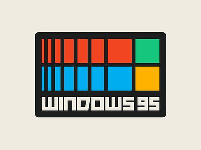 Windows 95 instagram lettering typedesign design faelpt type typography logo microsoft windows windows 95