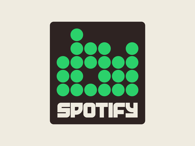 Spotify graphic design letters instagram lettering typedesign design faelpt type typography logo spotify