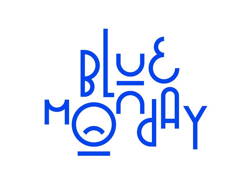 Blue Monday monday blue monday bluemonday blue design type illustration faelpt typedesign typography