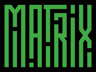 The Matrix graphic design neo design type typography scifi movie the matrix matrix