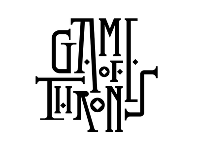 Game of Thrones type letters lettering jonsnow got gameofthrones design faelpt typography