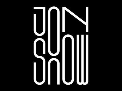 Jon Snow bw graphic design daenerys targaryen jon snow got game of thrones typedesign faelpt design typography