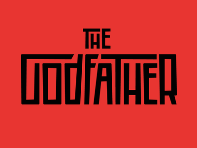 The Godfather movie illustration graphic design marlon brando al pacino the godfather godfather faelpt type typedesign typography