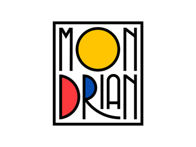 Mondrian bauhaus illustration typedesign faelpt type typography lettering mondrianism de stijl artist art mondrian
