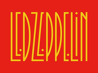 Led Zeppelin 🤘 faelpt design type typography lettering s jimmy page music rock led zeppelin