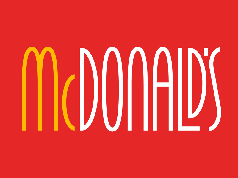 McDonald's graphic design letters design lettering type typography logos logo fast food mcdonalds