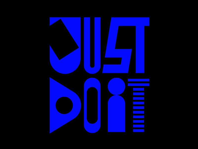 Just Do It. instagram letters type design faelpt typedesign lettering typography nike just do it