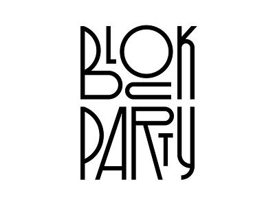 Block Party graphic design illustration letters lettering instagram design faelpt typedesign type typography party block block party
