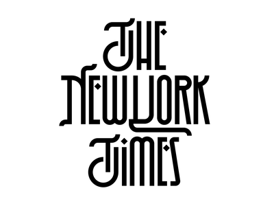 The New York Times logo letters instagram lettering typedesign design faelpt type typography newspaper nytimes