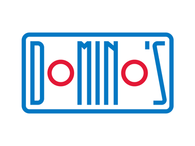 Domino's Pizza logo instagram typedesign design letters faelpt lettering typography dominos pizza dominos