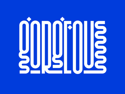 Gorgeous logo word letters instagram lettering typedesign design faelpt type typography gorgeous