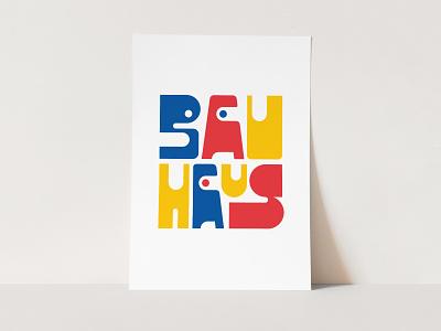 Bauhaus Poster for Sale poster print sale illustration letters lettering bauhaus100 bauhaus typedesign design faelpt type typography