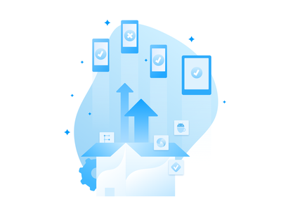 Get started with App Automate appium devices mobile web website browsers welcome illustration ui 2d browserstack