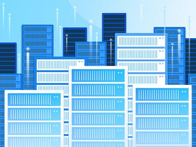 Building Data Centers browserstack visual design sketch testing global data center building blogpost illustration